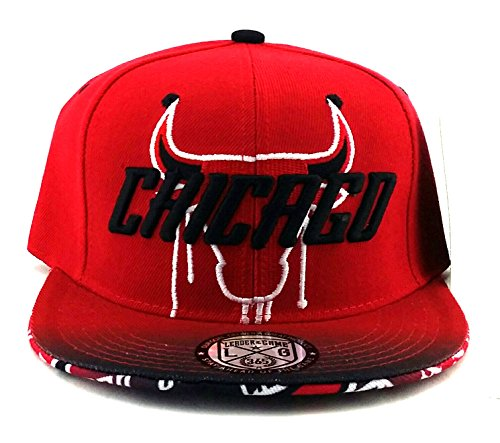 ee4a45ad3 Chicago Leader of the Game Youth Bull Head Drip 23 Flash 3 Snapback Hat