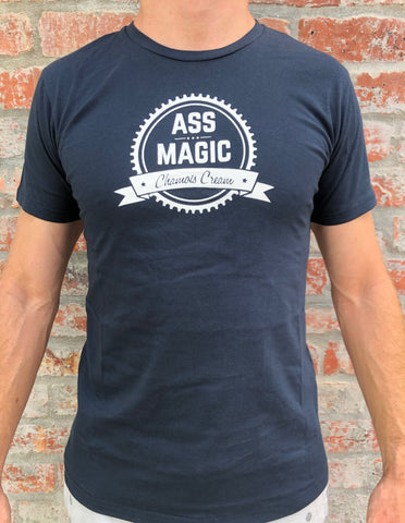 ass magic t shirt navy blue