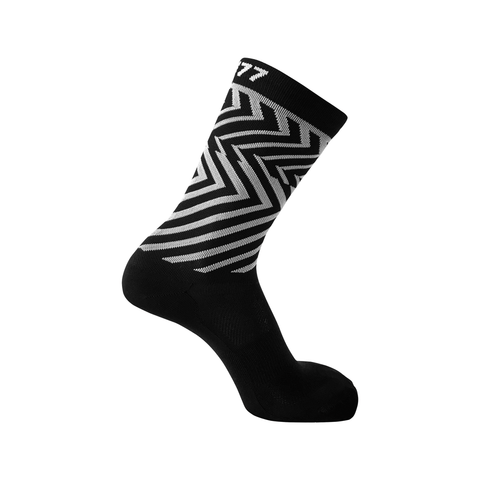 RH77 Black / White Geometric Socks