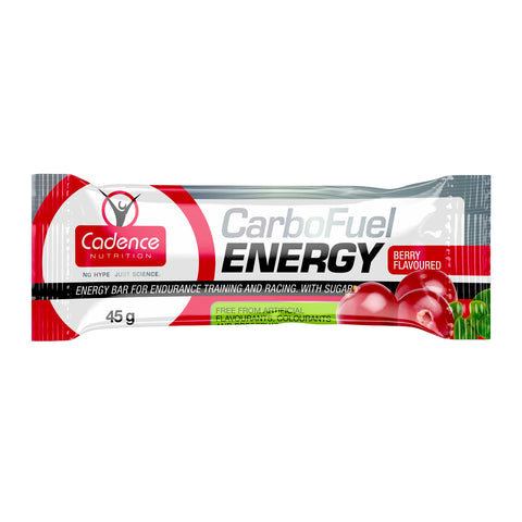 cadence nutrition carbofuel energy bar berry