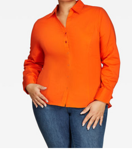Pleated Shirt - Orange