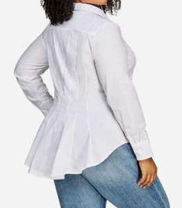Pleated Shirt - White
