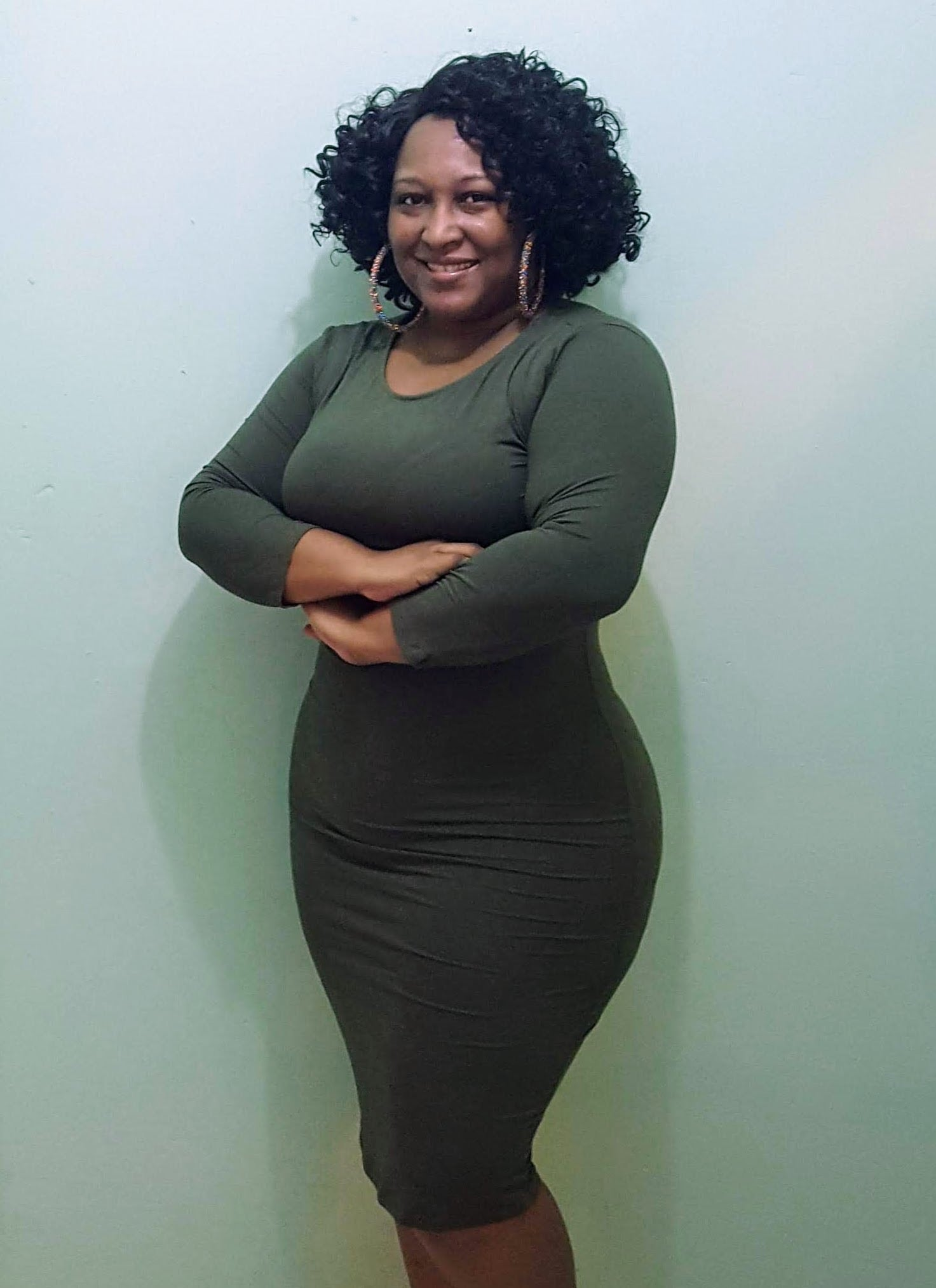 Simple Treasure Dress - Olive Plus Size