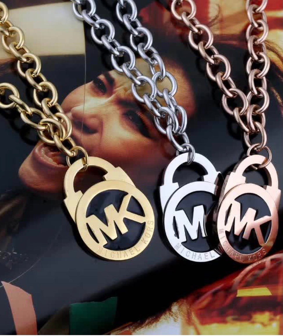 Mk Necklace and Lock Pendant