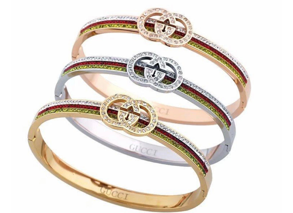 Gucci Tri Color Stainless Steel Bangle