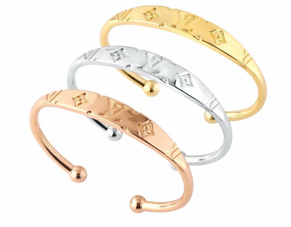 LV Stainless Steel Bangle