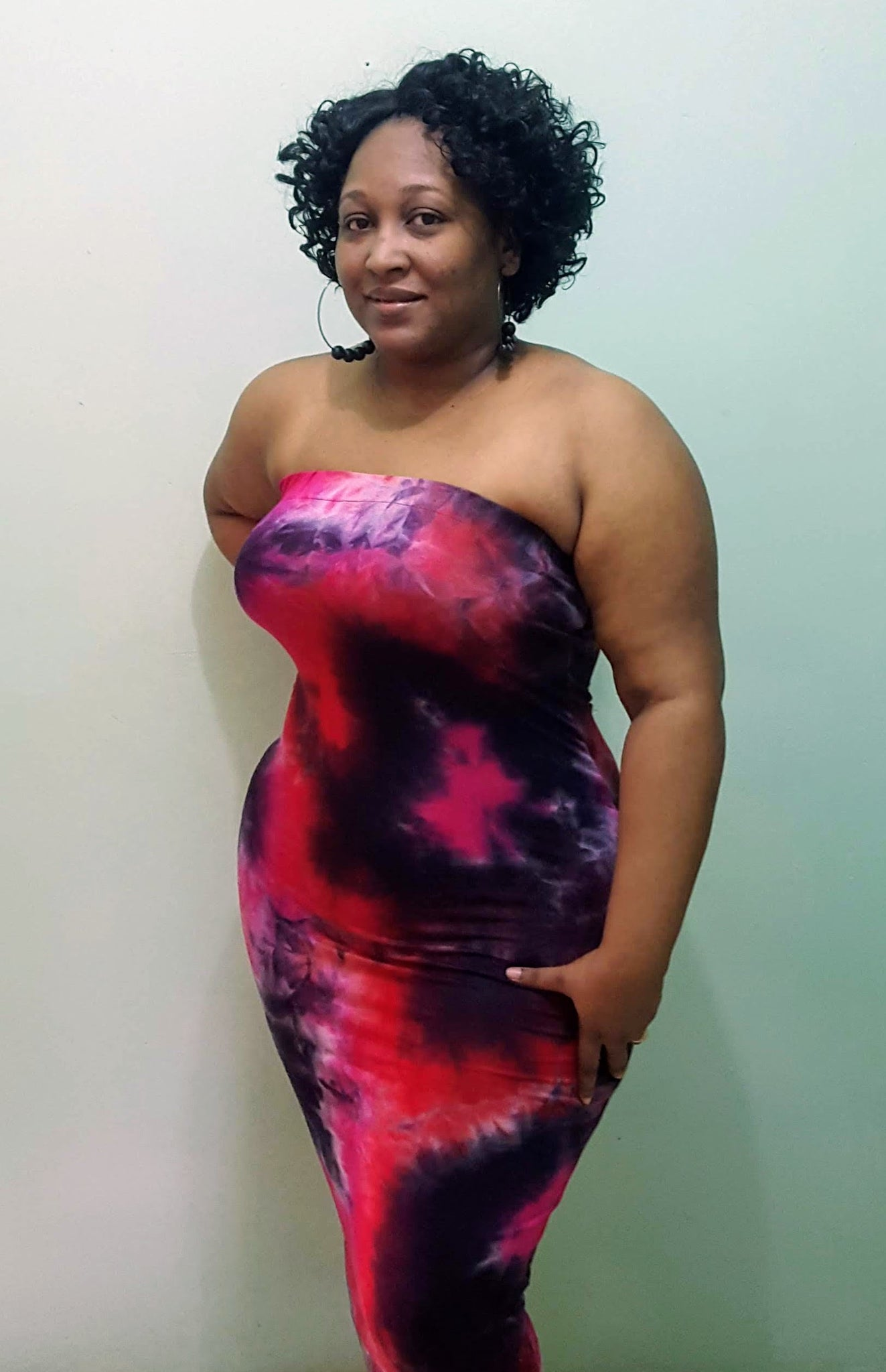Tube Dress 3- Pink and Black
