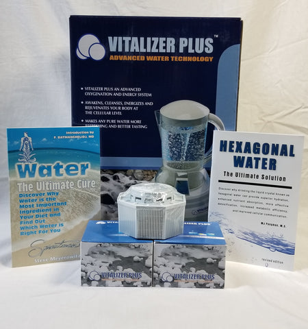 "Vitalizer Plus with 2 Mineral Cubes- ""Lowest Prices Anywhere"""
