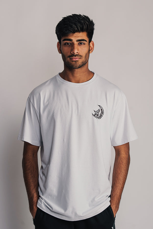 B&W STICHED T-SHIRT - WHITE