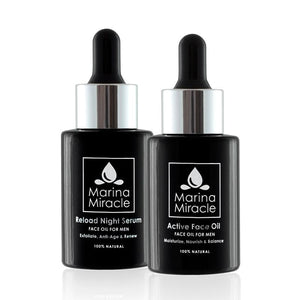 Vorteilspaket für Männer - Reload Night Serum & Active Face Oil - marinamiracle.de
