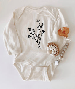 Floral Onesie | Long Sleeves