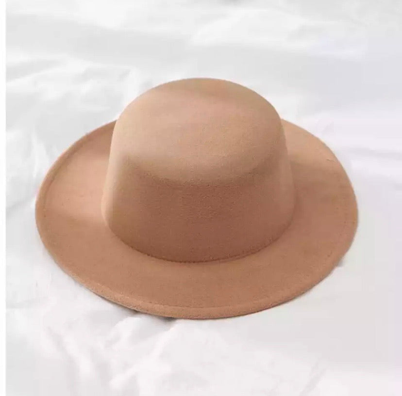 Brimmed Flat Top Hat