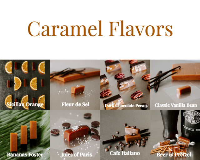 Caramel wedding favors from Sweet Jules, top MN candy, fresh is best