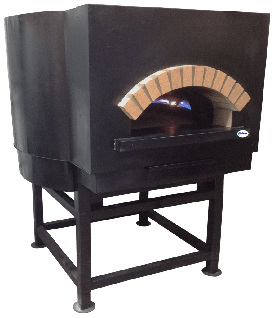 "Univex Stone Hearth Rotating Deck Oven, 59"" interior, Round Top exterior Dome 59RT - Round Top"