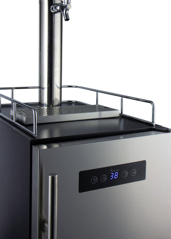 "Image of Kegco HBK15BSRNK 15"" Wide Homebrew Single Tap Stainless Steel Commercial Kegerator"