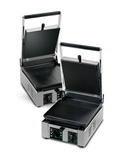 Univex 1.5 cast iron ribbed bottom flat top panini press PPRess1.5RF