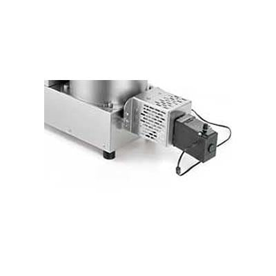 Univex Optional cutter with adjustable timing for length control. Pasta Cutter