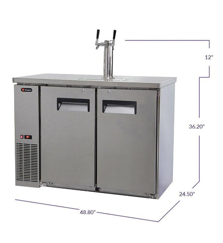 "Kegco  Kegco XCK-2448S 49"" Wide Dual Tap All Stainless Steel Commercial Kegerator [sku]"