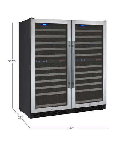 "Image of Allavino  Allavino 2X-VSWR121-2S20 47"" Wide FlexCount II Stainless Steel Side-by-Side Wine Refrigerator [sku]"