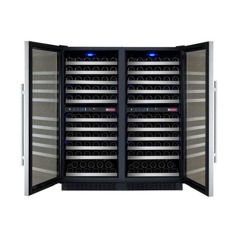 "Allavino  Allavino 2X-VSWR121-2S20 47"" Wide FlexCount II Stainless Steel Side-by-Side Wine Refrigerator [sku]"