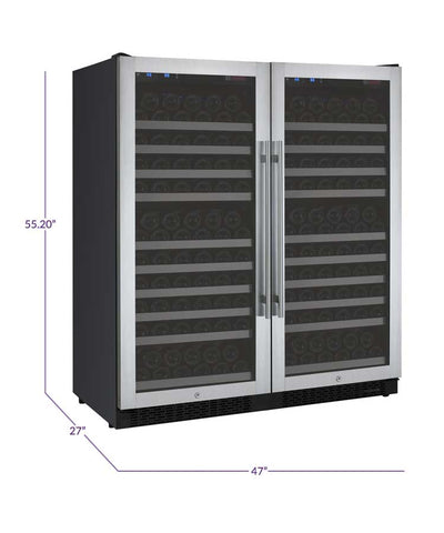 "Allavino  Allavino 2X-VSWR128-1S20 47"" Wide FlexCount II Stainless Steel Side-by-Side Wine Refrigerator [sku]"