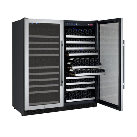 "Image of Allavino  Allavino 2X-VSWR128-1S20 47"" Wide FlexCount II Stainless Steel Side-by-Side Wine Refrigerator [sku]"