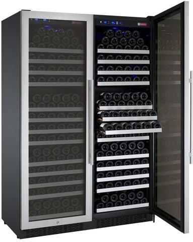"Image of Allavino  Allavino 2X-VSWR177-1S20 47"" Wide FlexCount II Stainless Steel Side-by-Side Wine Refrigerator [sku]"