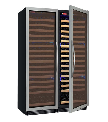 "Image of Allavino  Allavino 2X-YHWR174-1S20 48"" Wide FlexCount Classic II Stainless Steel Side-by-Side Wine Refrigerator [sku]"