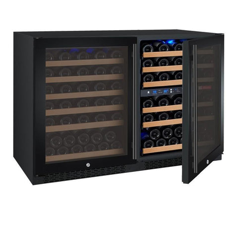 "Allavino  Allavino 3Z-VSWR5656-B20 47"" Wide FlexCount II Black Side-by-Side Wine Refrigerator [sku]"