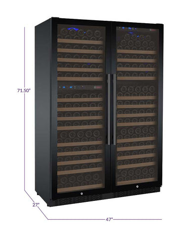 "Image of Allavino  Allavino 3Z-VSWR7772-B20 47"" Wide FlexCount II Black Side-by-Side Wine Refrigerator [sku]"