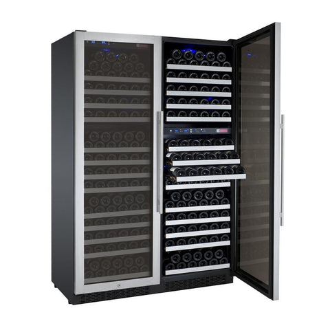 "Image of Allavino  Allavino 3Z-VSWR7772-S20 47"" Wide FlexCount II Stainless Steel Side-by-Side Wine Refrigerator [sku]"