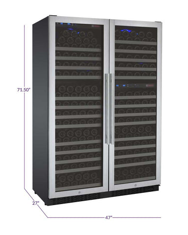 "Allavino  Allavino 3Z-VSWR7772-S20 47"" Wide FlexCount II Stainless Steel Side-by-Side Wine Refrigerator [sku]"