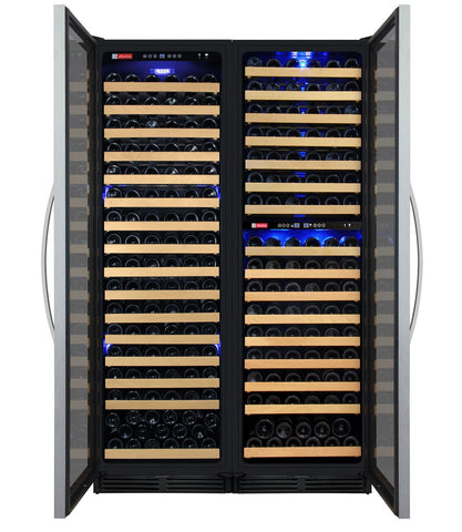 "Image of Allavino  Allavino 3Z-YHWR7274-S20 48"" Wide FlexCount Classic II Stainless Steel Side-by-Side Wine Refrigerator [sku]"