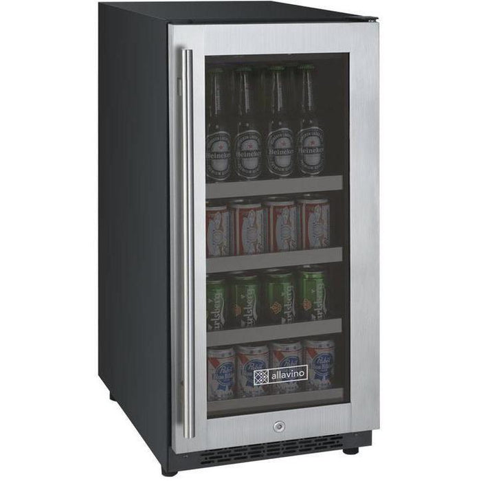 "Allavino  Allavino VSBC15-SR20 15"" Wide FlexCount II Tru-Vino Stainless Steel Right Hinge Beverage Center [sku]"