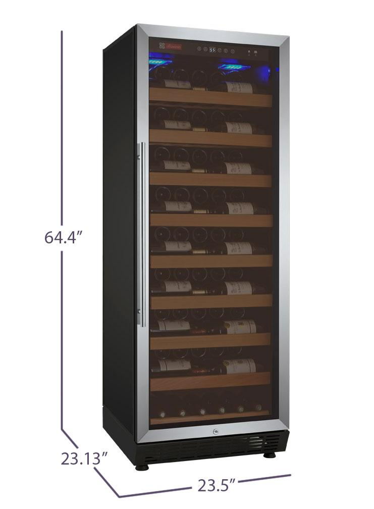 "Allavino  Allavino YHWR115-1SR20 24"" Wide Vite II Stainless Steel Right Hinge Wine Refrigerator [sku]"