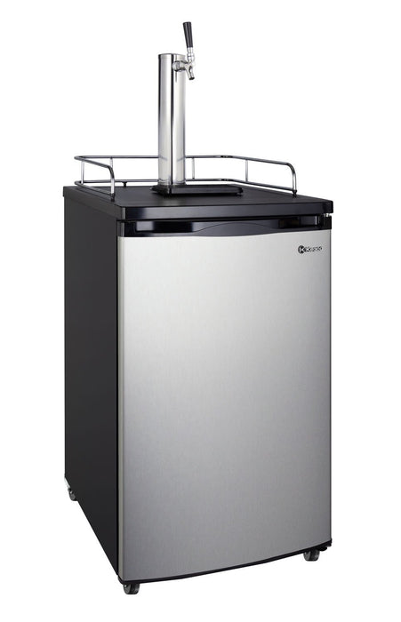"Kegco  Kegco HBK199S-1NK 20"" Wide Homebrew Single Tap Stainless Steel Kegerator [sku]"
