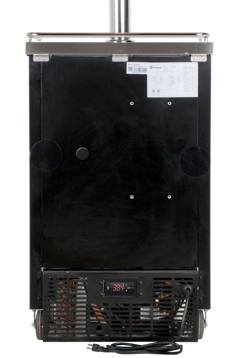 "Kegco  Kegco HBK1XB-4 24"" Wide Homebrew Four Tap Black Commercial Kegerator [sku]"