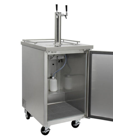 "KegcoKegco HBK1XS-2 24"" Wide Homebrew Dual Tap Stainless Steel Commercial KegeratorDual Tap Kegerator"