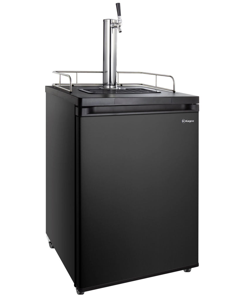 "KegcoKegco HBK209B-1NK 24"" Wide Homebrew Single Tap Black KegeratorSingle Tap Kegerator"