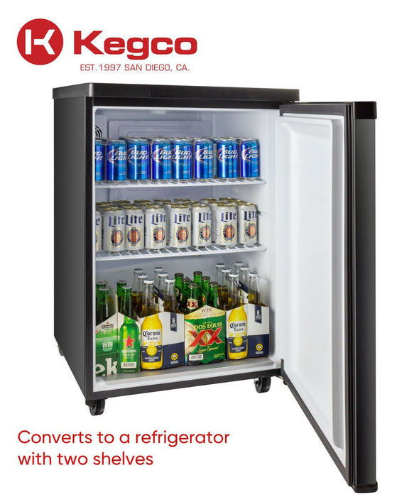 "Kegco  Kegco HBK309S-2NK 24"" Wide Homebrew Dual Tap Stainless Steel Digital Kegerator [sku]"