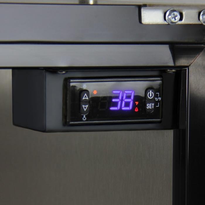 "Kegco  Kegco ICHK38BSU-2 24"" Wide Cold Brew Coffee Dual Tap Black Commercial Built-In Right Hinge Kegerator [sku]"