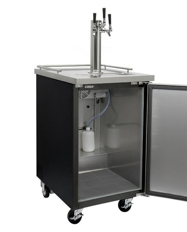 "Image of KegcoKegco ICXCK-1B-3 24"" Wide Cold Brew Coffee Triple Tap Black Commercial KegeratorTriple Tap Kegerator"