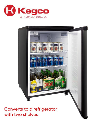 "Image of KegcoKegco K199B-1NK 20"" Single Tap KegeratorSingle Tap Kegerator"