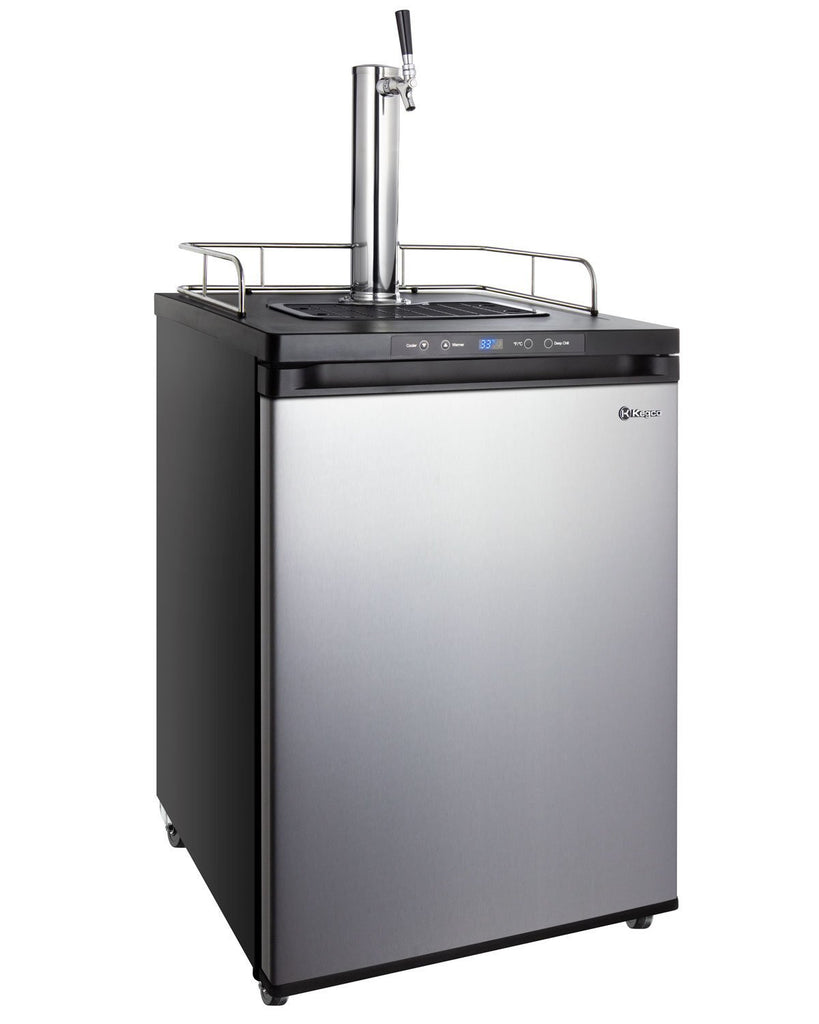 "KegcoKegco K309SS-1NK 24"" Wide Single Tap Stainless Steel Digital KegeratorSingle Tap Kegerator"