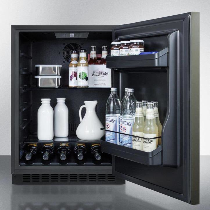 "SummitSummit 24"" Wide Built-In All-Refrigerator, ADA Compliant,AL54KSHHRefrigeratorQuality Galore"