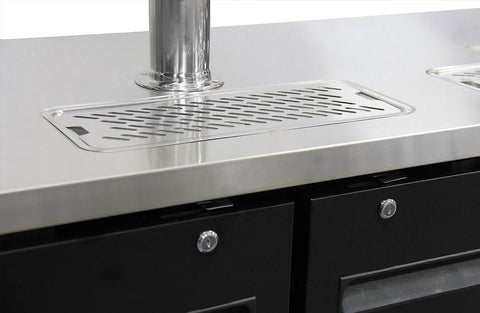 "Image of Kegco XCK-2472B 72"" Wide Triple Tap Black Commercial Kegerator"
