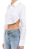 Button-Up Crop Top