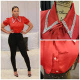 Red Bling-Bling Blouse