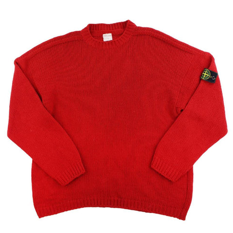 Stone Island AW 1984 Knitted sweater red - SaruGeneral