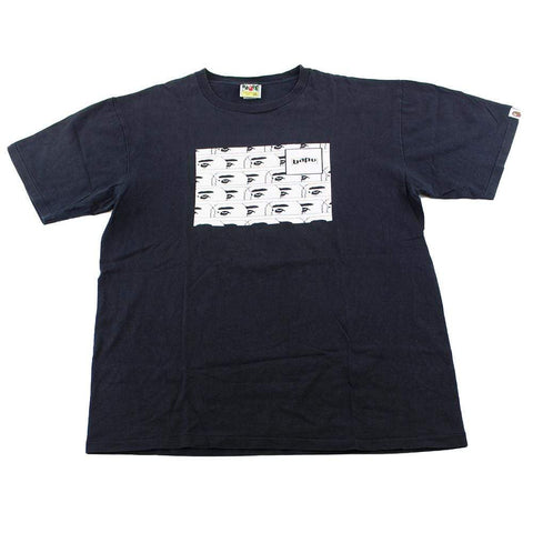 Bape White Tile Face Box Tee Black - SaruGeneral